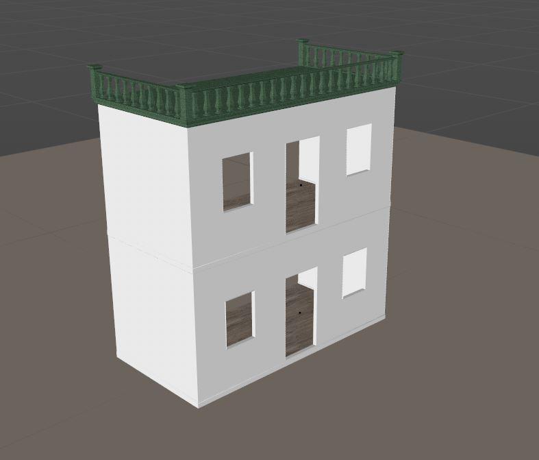 前から見たハウス