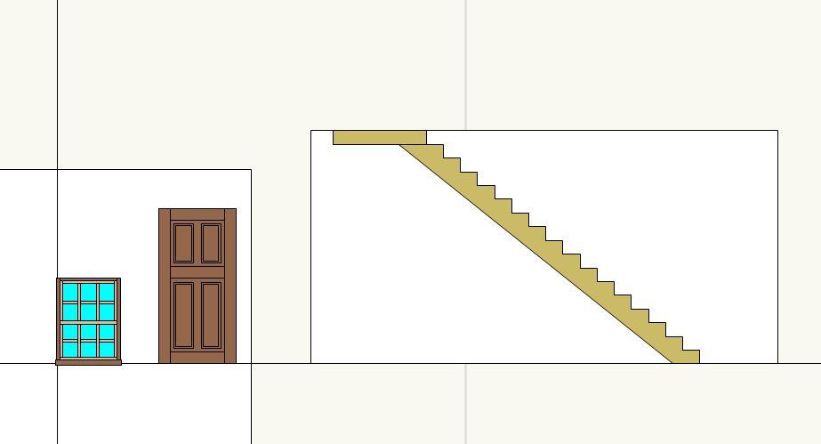 窓とドア、そして階段の製図
